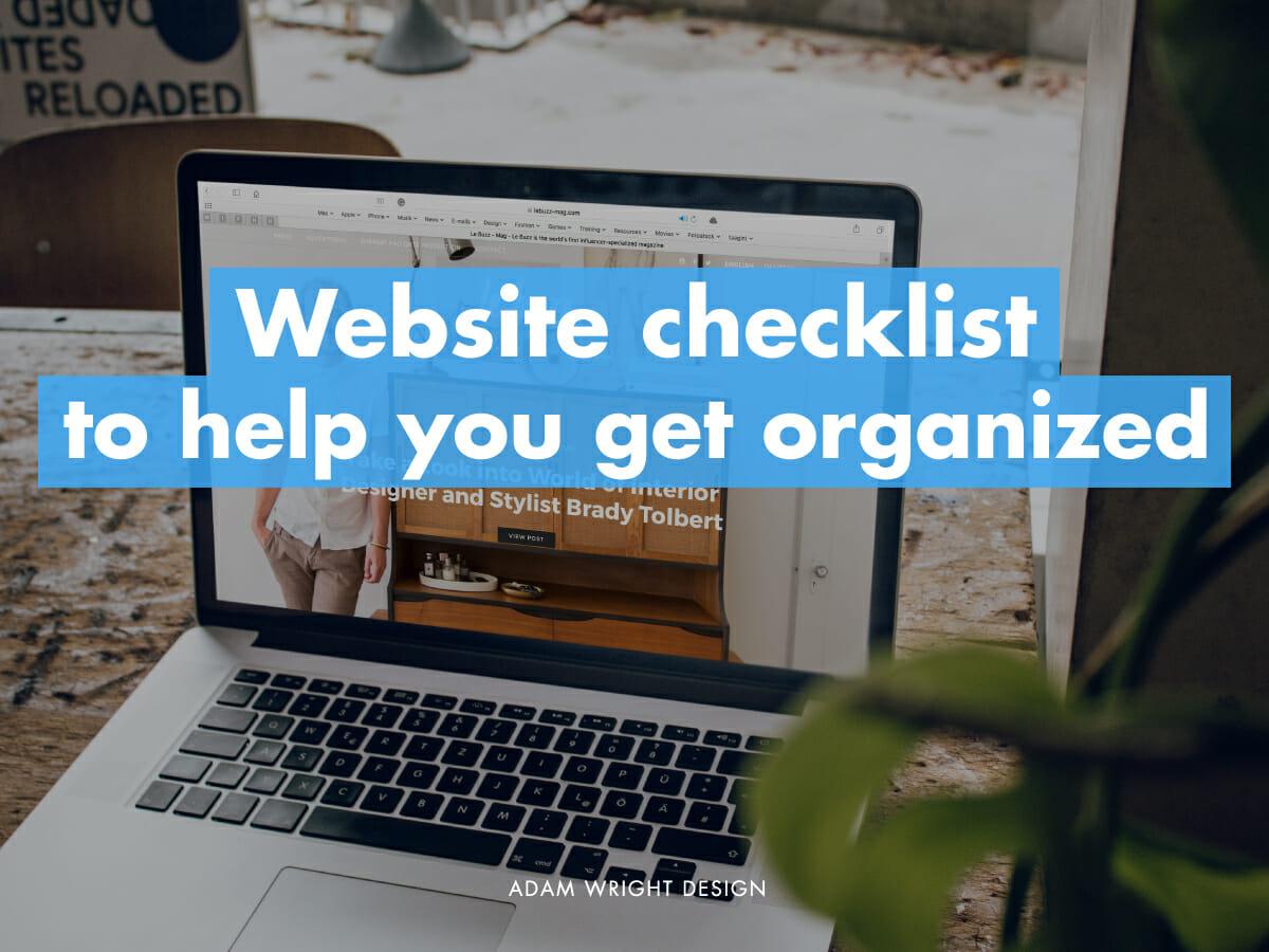 Adam Wright Design - website redesign