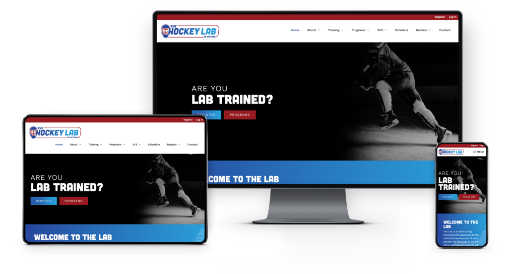Adam Wright Design | The Hockey Lab Website Design