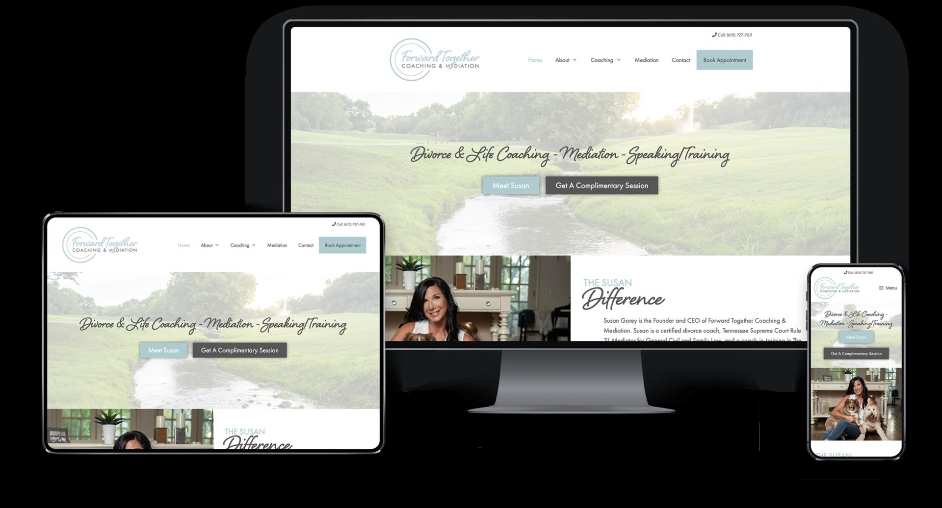 Adam Wright Design | Forward Together Coaching Website Design
