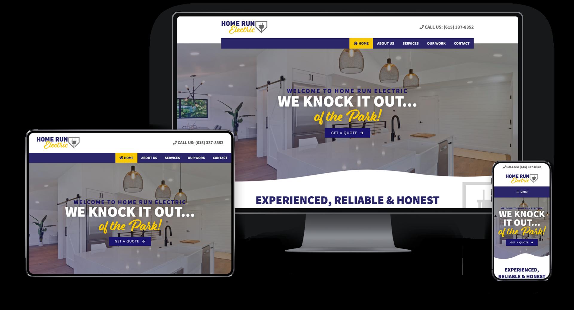 Adam Wright Design | Home Run Electric Website Design